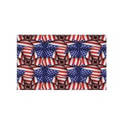 4th Of July Modern Pattern Print Satin Wrap by dflcprintsclothing