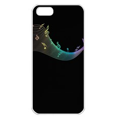 Musical Wave Apple Iphone 5 Seamless Case (white)