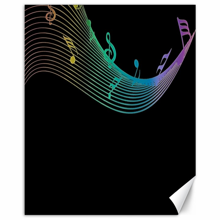 Musical Wave Canvas 11  x 14  (Unframed)