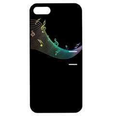 Musical Wave Apple Iphone 5 Hardshell Case With Stand by urockshop