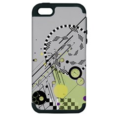 Abstract Geo Apple Iphone 5 Hardshell Case (pc+silicone)