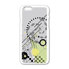 Abstract Geo Apple Iphone 6 White Enamel Case