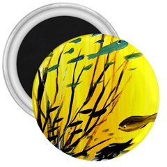 Yellow Dream 3  Button Magnet by pwpmall