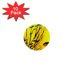 Yellow Dream 1  Mini Button (10 Pack) by pwpmall