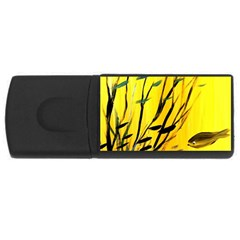 Yellow Dream 2GB USB Flash Drive (Rectangle) by pwpmall