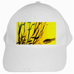 Yellow Dream White Baseball Cap by pwpmall