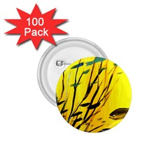 Yellow Dream 1 75  Button (100 Pack) by pwpmall
