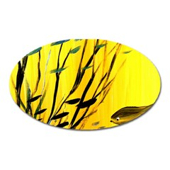 Yellow Dream Magnet (oval) by pwpmall