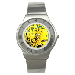 Yellow Dream Stainless Steel Watch (slim) by pwpmall