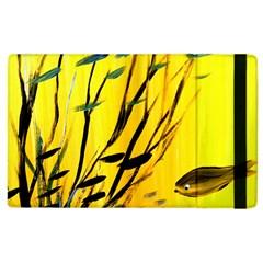 Yellow Dream Apple Ipad 2 Flip Case by pwpmall