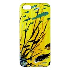 Yellow Dream Apple Iphone 5 Premium Hardshell Case by pwpmall
