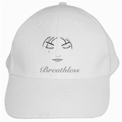 Breathless White Baseball Cap by morbidcandy