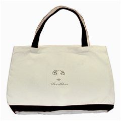 Breathless Twin Sided Black Tote Bag by morbidcandy