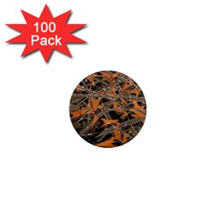 Intricate Abstract Print 1  Mini Button Magnet (100 Pack) by dflcprints