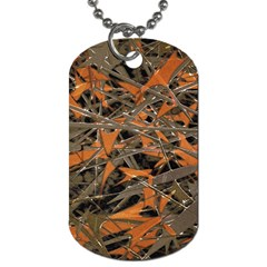 Intricate Abstract Print Dog Tag (one Sided) by dflcprints