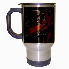 Intricate Abstract Print Travel Mug (silver Gray) by dflcprints