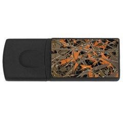 Intricate Abstract Print 4gb Usb Flash Drive (rectangle) by dflcprints