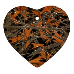 Intricate Abstract Print Heart Ornament (two Sides) by dflcprints