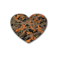 Intricate Abstract Print Drink Coasters (heart) by dflcprints