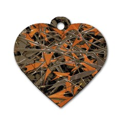 Intricate Abstract Print Dog Tag Heart (two Sided) by dflcprints