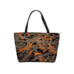 Intricate Abstract Print Large Shoulder Bag by dflcprints