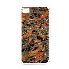 Intricate Abstract Print Apple Iphone 4 Case (white) by dflcprints