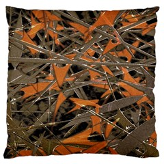 Intricate Abstract Print Large Cushion Case (single Sided)  by dflcprints