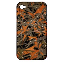 Intricate Abstract Print Apple Iphone 4/4s Hardshell Case (pc+silicone) by dflcprints