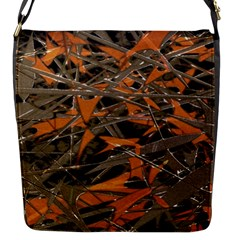 Intricate Abstract Print Flap Closure Messenger Bag (small) by dflcprints