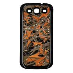 Intricate Abstract Print Samsung Galaxy S3 Back Case (black) by dflcprints