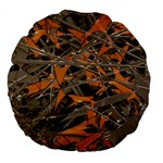 Intricate Abstract Print Large 18  Premium Flano Round Cushion  Back