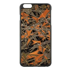 Intricate Abstract Print Apple Iphone 6 Plus Black Enamel Case by dflcprints