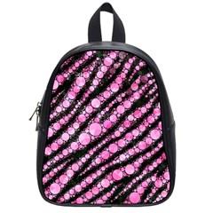 Pink Black Tiger Bling  School Bag (small) by OCDesignss