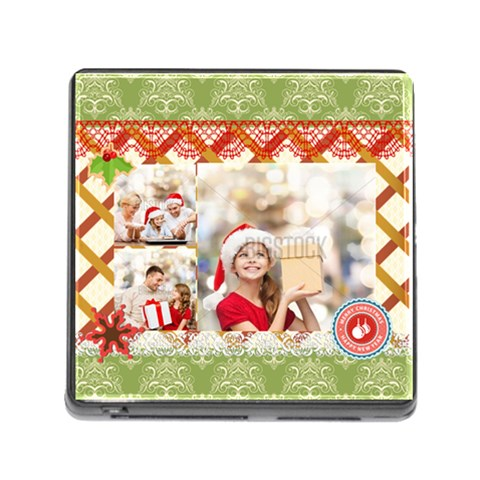 Xmas By Xmas   Memory Card Reader (square)   It1f6fjhkg0b   Www Artscow Com Front