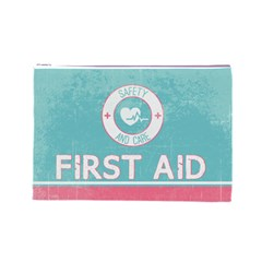 Vintage First Aid Cosmetic Bag By Em   Cosmetic Bag (large)   Uk6ejo1kdugq   Www Artscow Com Front