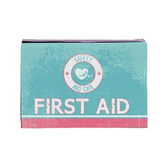 Vintage First Aid Cosmetic Bag By Em   Cosmetic Bag (large)   Uk6ejo1kdugq   Www Artscow Com Back