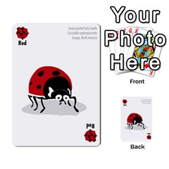 Ladybug Lunch, California Bugs   Deck 1 Of 2 By Marianne Waage   Multi Purpose Cards (rectangle)   V1zeet0ftawk   Www Artscow Com Front 1