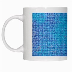 Textured Blue & Purple Abstract White Coffee Mug by StuffOrSomething