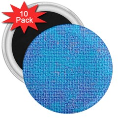 Textured Blue & Purple Abstract 3  Button Magnet (10 Pack) by StuffOrSomething