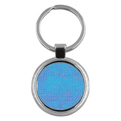 Textured Blue & Purple Abstract Key Chain (round) by StuffOrSomething