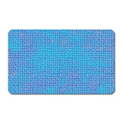 Textured Blue & Purple Abstract Magnet (rectangular) by StuffOrSomething
