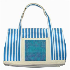 Textured Blue & Purple Abstract Blue Striped Tote Bag by StuffOrSomething