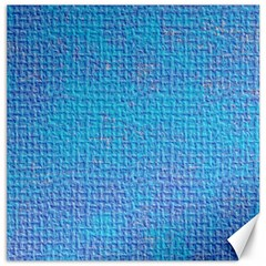Textured Blue & Purple Abstract Canvas 16  X 16  (unframed) by StuffOrSomething