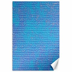 Textured Blue & Purple Abstract Canvas 20  X 30  (unframed) by StuffOrSomething