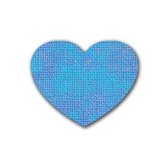 Textured Blue & Purple Abstract Drink Coasters (heart) by StuffOrSomething