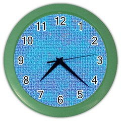 Textured Blue & Purple Abstract Wall Clock (color) by StuffOrSomething