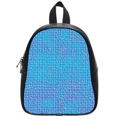 Textured Blue & Purple Abstract School Bag (small) by StuffOrSomething