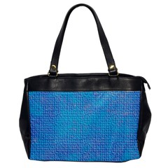 Textured Blue & Purple Abstract Oversize Office Handbag (one Side) by StuffOrSomething