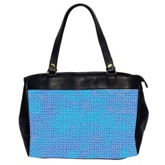 Textured Blue & Purple Abstract Oversize Office Handbag (two Sides) by StuffOrSomething