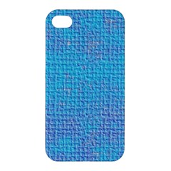 Textured Blue & Purple Abstract Apple Iphone 4/4s Premium Hardshell Case by StuffOrSomething